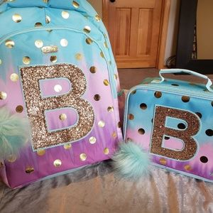 New Ombre Foil Dot Backpack & Lunchbox